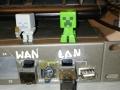 WAN i LAN i włącznik